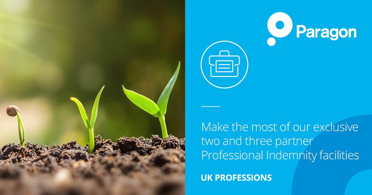 UK Professions:  Make the most of our exclusive two and three partner Professional Indemnity facilities.