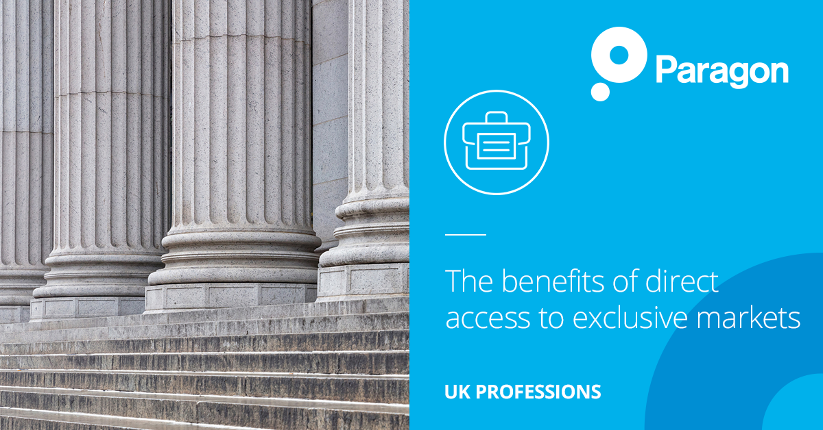 UK Professions: The benefits of direct access to exclusive markets – competitive rates from specialist insurers