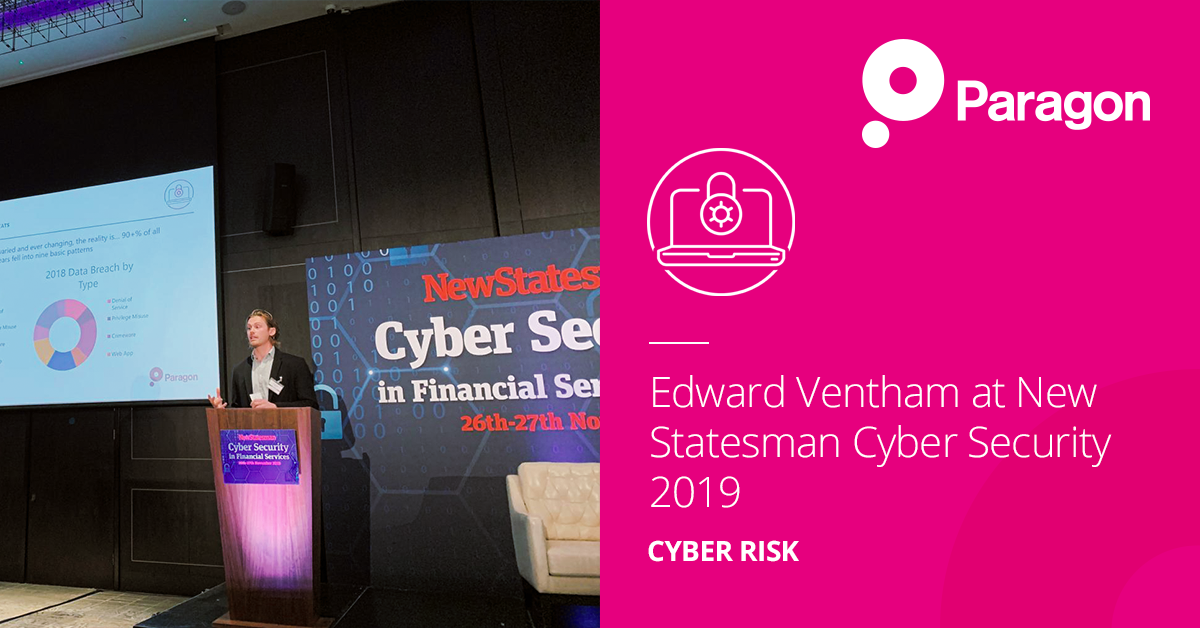 Edward Ventham at New Statesman Cyber Security 2019