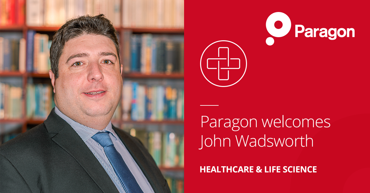 Paragon welcomes John Wadsworth