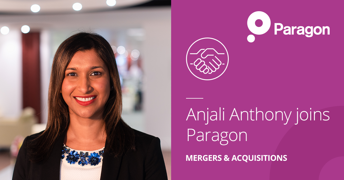 Anjali Anthony joins Paragon