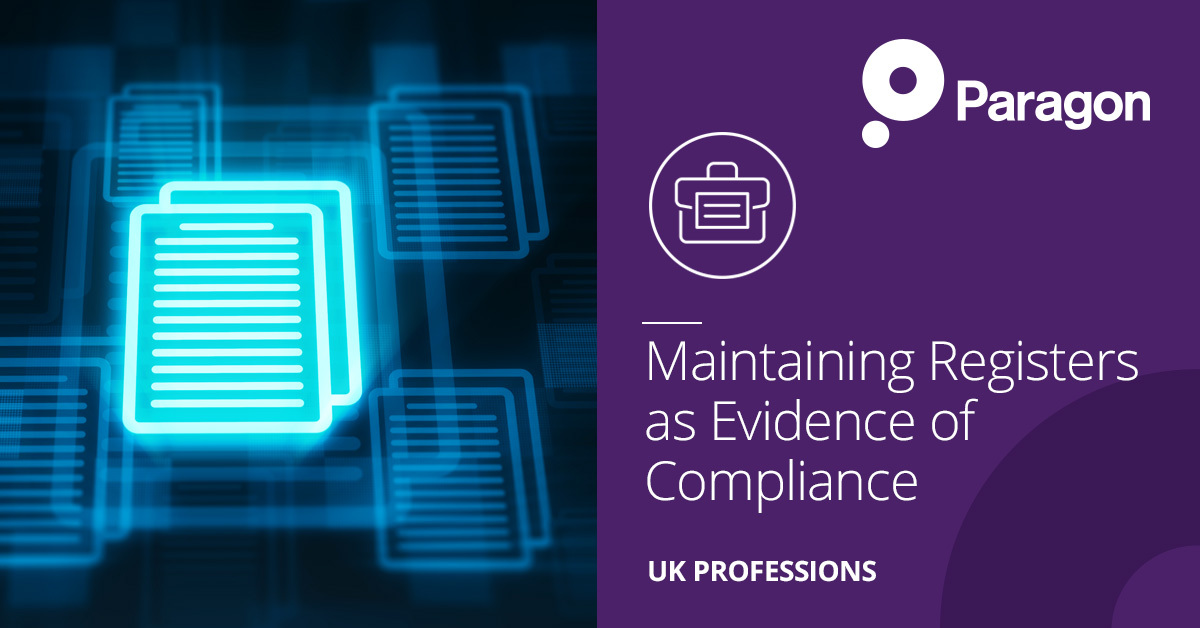 Maintaining Registers as Evidence of Compliance