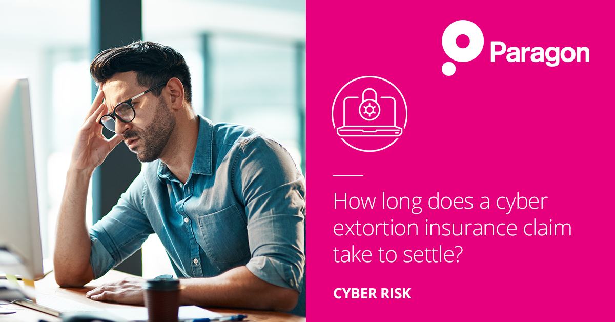 How long does a cyber extortion insurance claim take to settle?